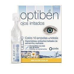 Optiben ojos irritados 10 ampollas