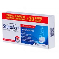 Steradent limpiador triple accion 90  comprimidos -